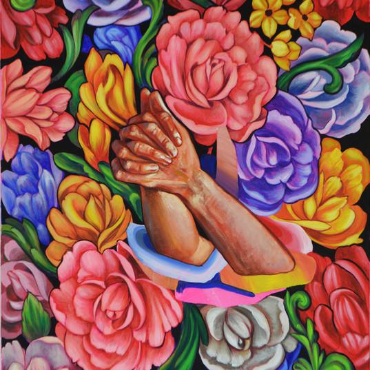 Haris Rashid, Pray I, 90 x 60 cm, Acryli