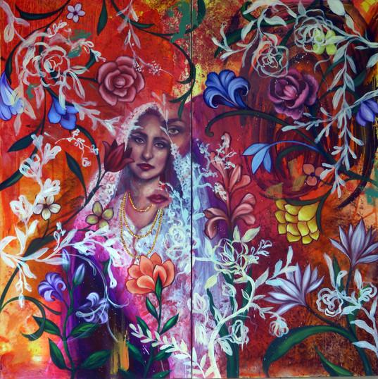 Bride 2018 121x121cm Acrylic on canvas.j
