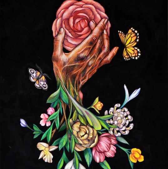 Haris Rashid, Veins, 60 x 45 cm, Acrylic