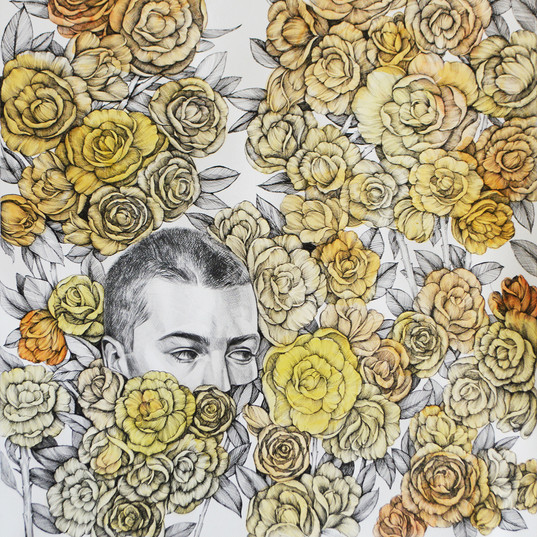 Haris Rashid, Daydream, 105 x 75 cm, Pen