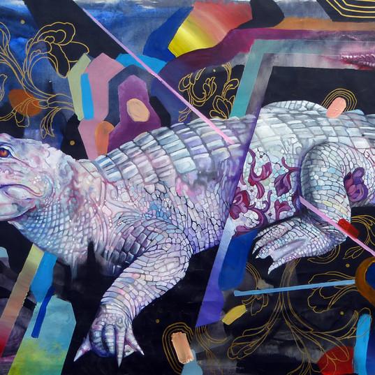 Haris Rashid , Albino, Acrylic on canvas