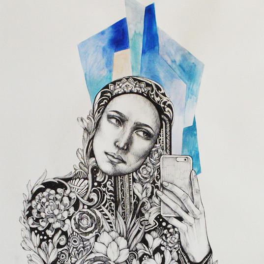 Haris Rashid, Prophecy, 105 x 75 cm, Pig