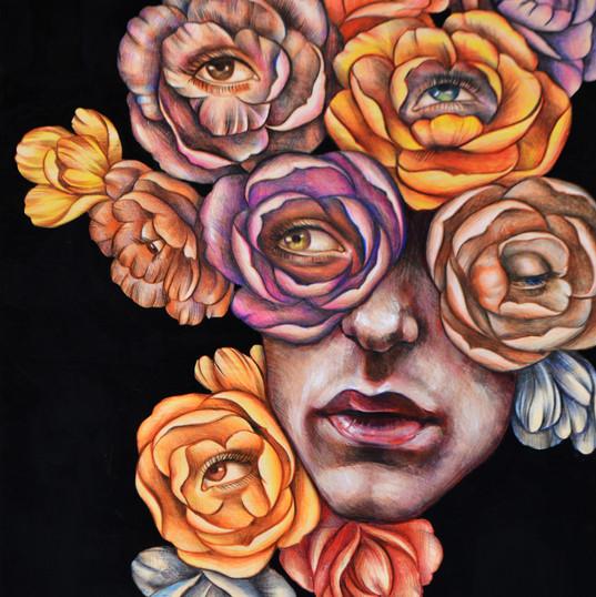 Haris Rashid, Visions, 60 x 45 cm, Acryl