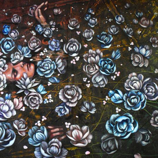 Haris Rashid, Mandi Bunga, 155 x 105 cm,