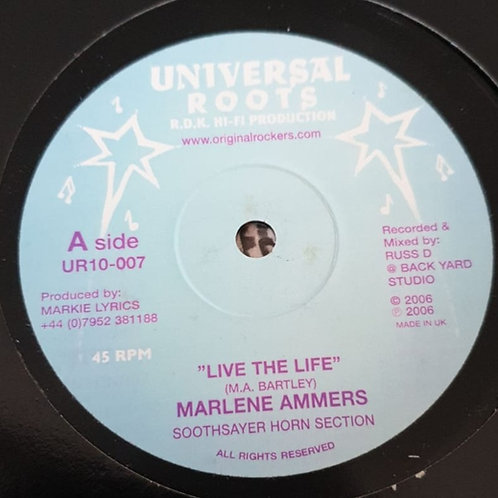 LIVE THE LIFE MARLENE AMMERS