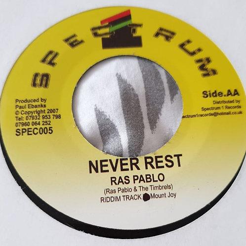 NEVER REST RAS PABLO