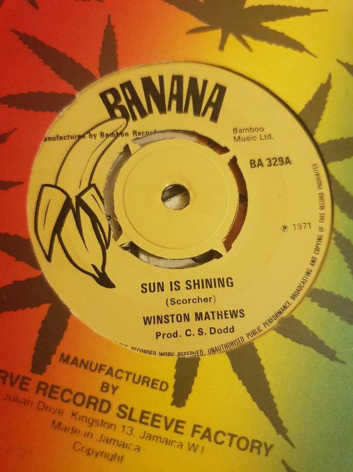 "SUN IS SHINING WINSTON MATTHEWS ORIGINAL STUDIO ONE 7"""