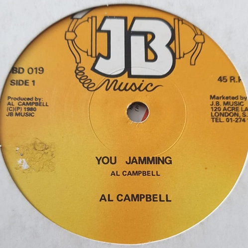 "YOU JAMMING AL CAMPBELL ORIGINAL 12"" JB MUSIC"