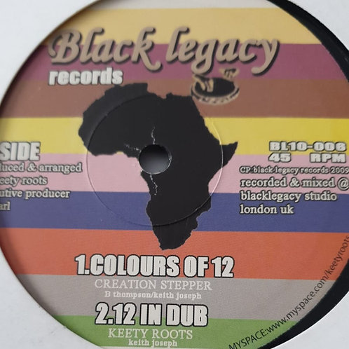 Creation Stepper / Keety Roots– Colours Of 12 / Ancient Of Days