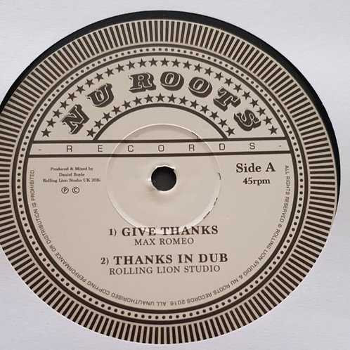 GIVE THANKS MAX ROMEO / DRY BACK LEE PERRY