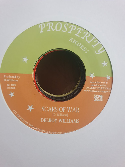 SCARS OF WAR DELROY WILLIAMS ONLY PROSPERITY RECORDS