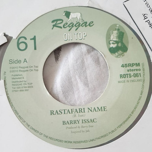 RASTAFARI NAME BARRY ISAAC