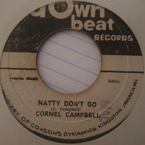 "NATTY DONT GO CORNELL CAMPBELL ORIGINAL DOWN BEAT RECORDS 7"" STUDIO 1  KILLER"