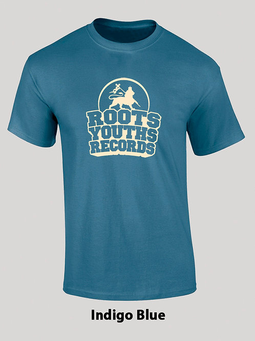 INDIGO BLUE ROOTS YOUTHS RECORDS T SHIRT