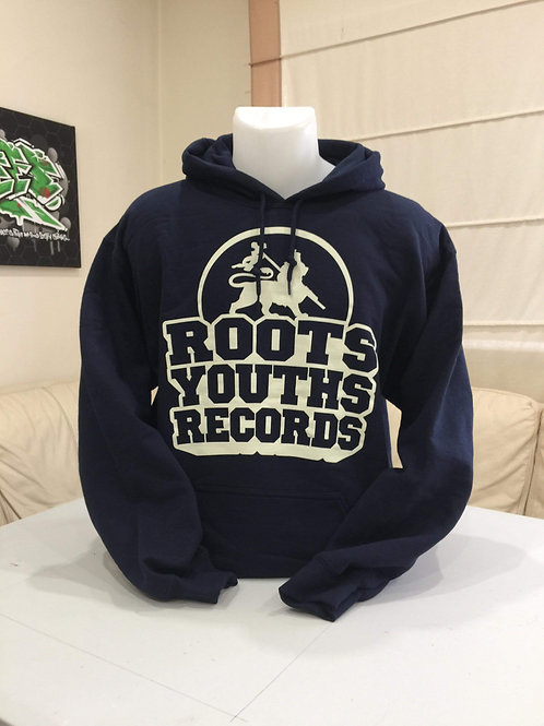 ROOTS YOUTHS RECORDS HOODY NAVY BLUE