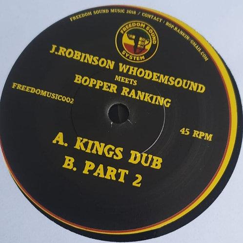 KINGS DUB J ROBINSON WHODEMSOUND MEETS BOPPER RANKING