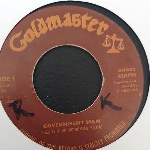 GOVERNMENT MAN CHRISTEL AND THE GOLDMASTER ALLSTARS