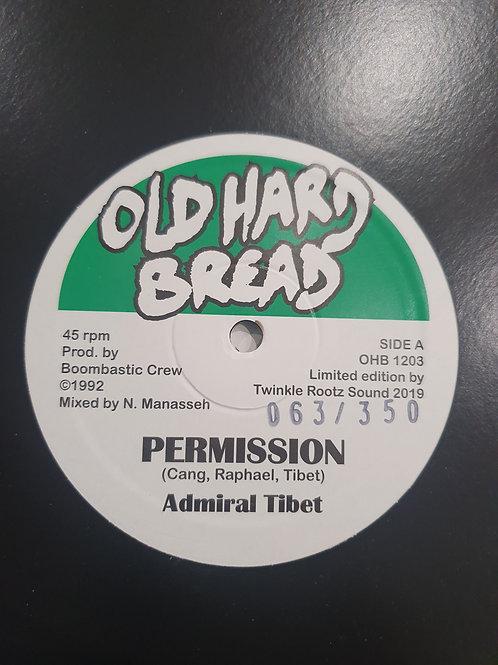 "PERMISSION ADMIRAL  TIBET 12"" BOOMBASTIC CREW OLD HARD BREAD"