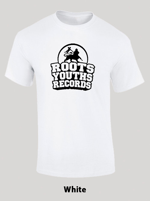 WHITE BLACK ROOTS YOUTHS RECORDS T SHIRT