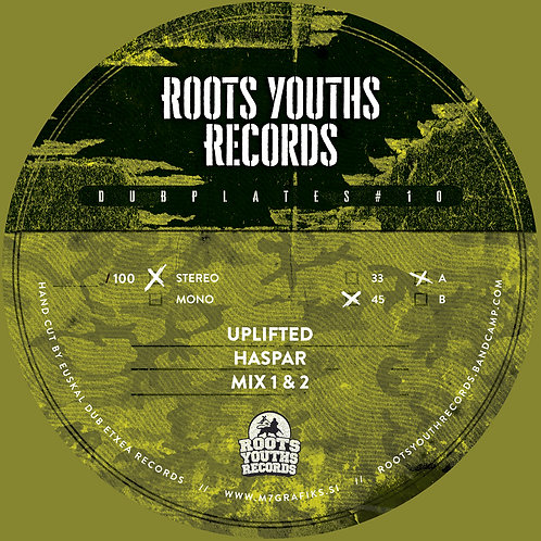 ***PRE ORDER*** UPLIFTED HASPAR ROOTS YOUTHS DUBPLATE POLYVINLY SERIES 10