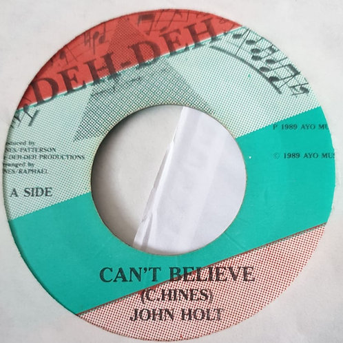 CAN´T BELIEVE JOHN HOLT