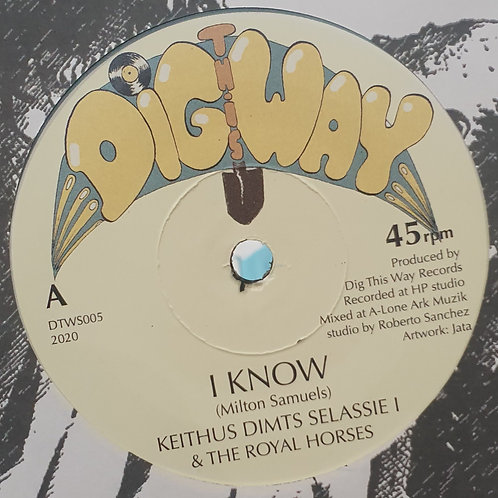 """I KNOW KEITHUS DIMTS SELLASSIE I AND THE ROYAL HORSES DIG THIS WAY 7"""""""