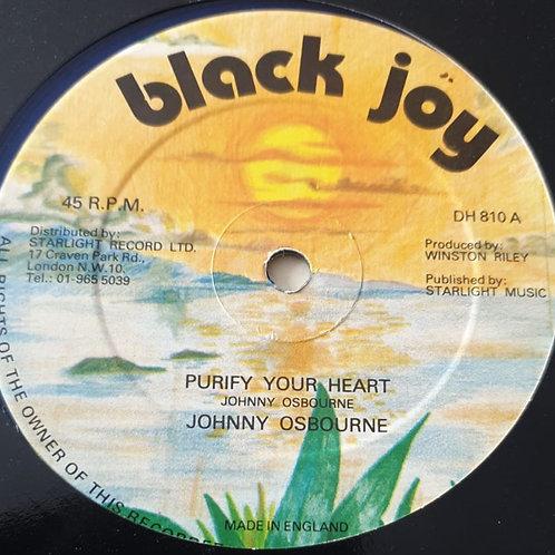 "PURIFY YOUR HEART / POLITICIAN JOHNNY OSBOURNE ORIG 12"""