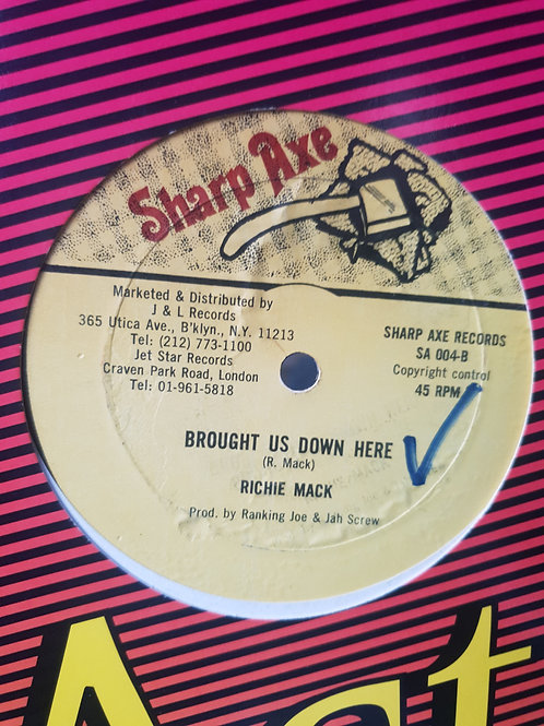 """BROUGHT US DOWN HERE RICHIE MACK SMALL AXE 12"""""""
