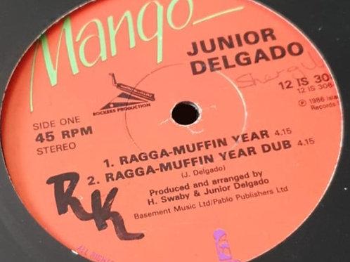 "RAGGAMUFFIN YEAR JUNIOR DELGADO MANGO 12"""