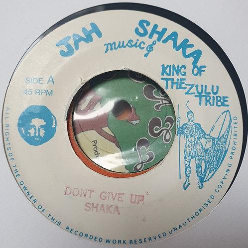 "DON'T GIVE UP JAH SHAKA 7"" MINT"