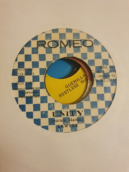 "UNITY LAWYER ORIGINAL 7"" ROMEO LABEL"
