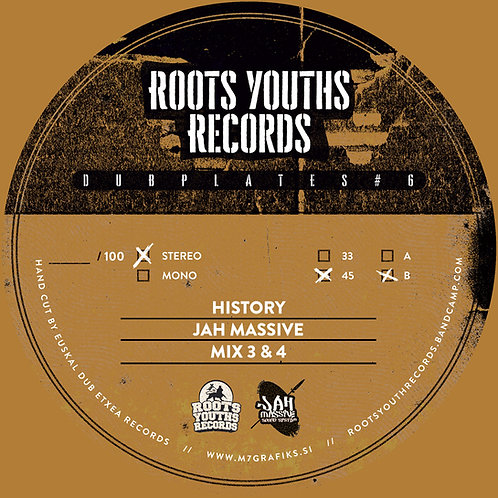 HISTORY JAH MASSIVE ROOTS YOUTHS DUBPLATE POLYVINLY SERIES 6