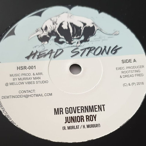"""MR GOVERNMENT JUNIOR ROY MURRAY MAN HEAD STRONG 10"""""""