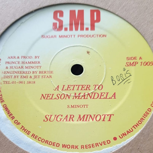 A LETTER TO NELSON MANDELA SUGAR MINNOT S.M.P 12""