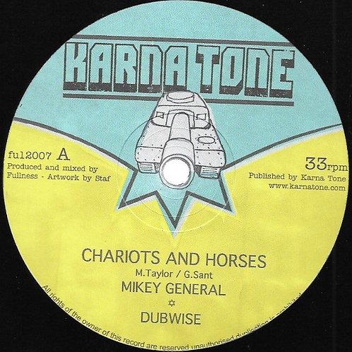"CHARIOTS AND HORSES MICKEY GENERAL KARNA TONE 12"""