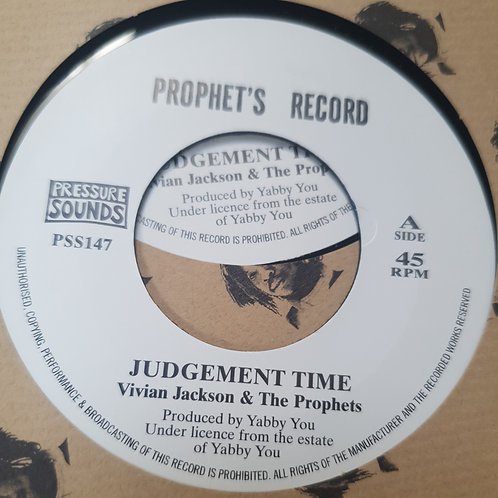 "JUDGEMENT TIME VIVIAN JACKSON AND THE PROPHETS PRESSURE SOUNDS 7"""