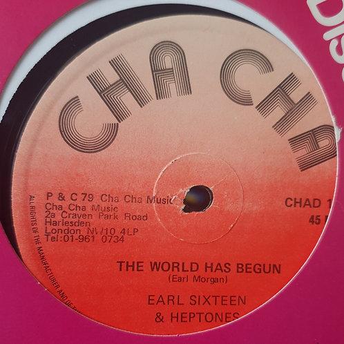 "THE WORLD HAS BEGUN EARL SIXTEEN AND HEPTONES ORIG CHA CHA 12"""