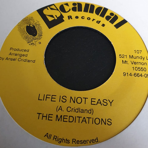 LIFE IS NOT EASY MEDITATIONS