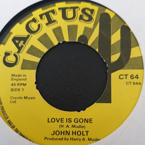 LOVE IS GONE / TIME IS THE MASTER - JOHN HOLT