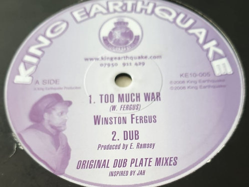 TOO MUCH WAR WINSTON FERGUS