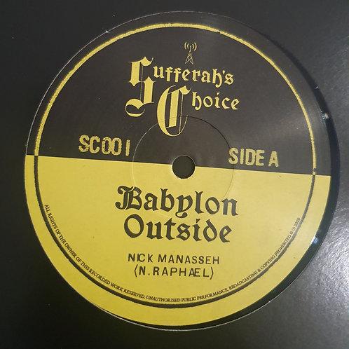 "BABYLON OUTSIDE / BRERIT BLUES NICK MANASSEH SUFFERAHS CHOICE 12"""