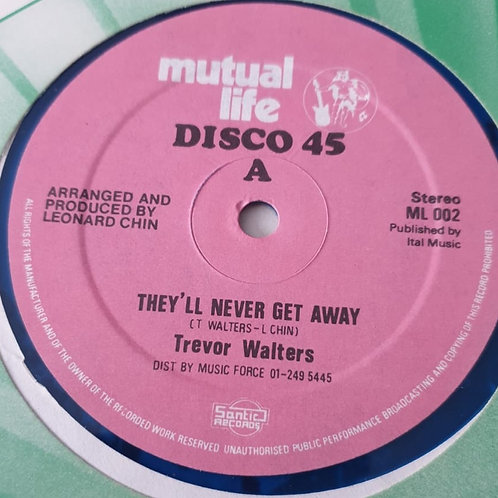 """THEY 'LL NEVER GET AWAY TREVOR WALTERS  ORIG MUTUAL LIFE 12"""""""