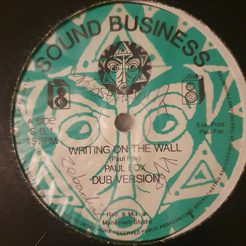 WRITING ON THE WALL PAUL FOX / AFRICAN MASK  SOUND IRATION