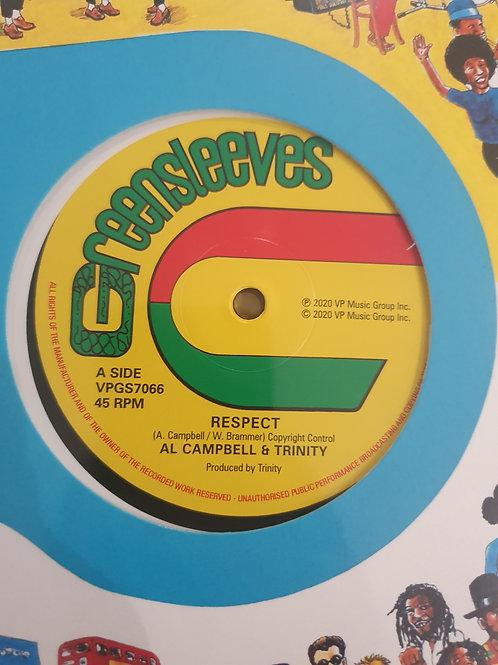 """RESPECT AL CAMPBELL & TRINITY / VAMPIRE GREENSLEEVES 12"""" REISSUE"""