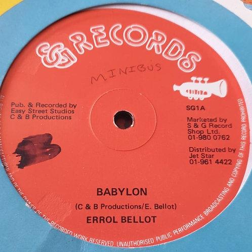 "BABYLON ERROL BELLOT ORIGINAL S & G 12"""