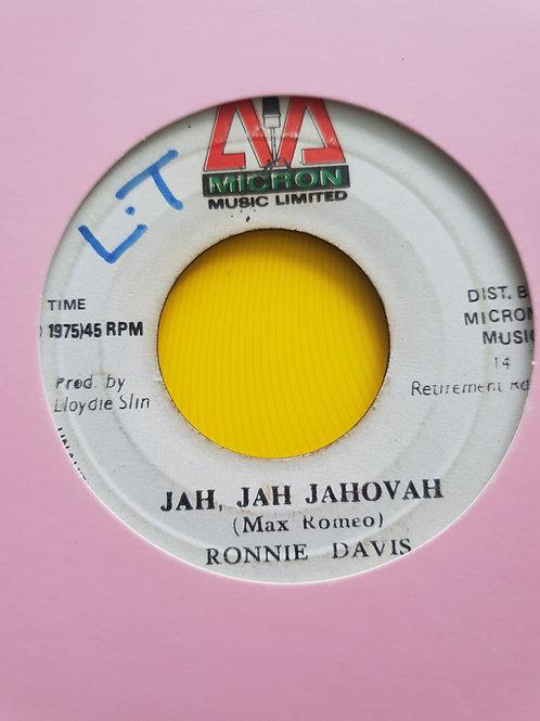 """JAH JAH JAHOVIAH RONNIE DAVIES MICRON 7"""""""