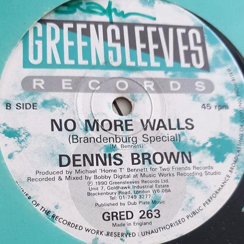 "NO MORE WALLS DENNIS BROWN GREENSLEEVES 12"""