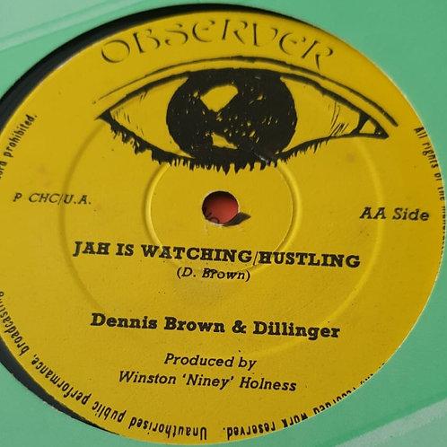 "ROCK ON GREGORY ISACCS / JAH IS WATCHING  DENNIS BROWN & DILLINGER ORIG 12"""