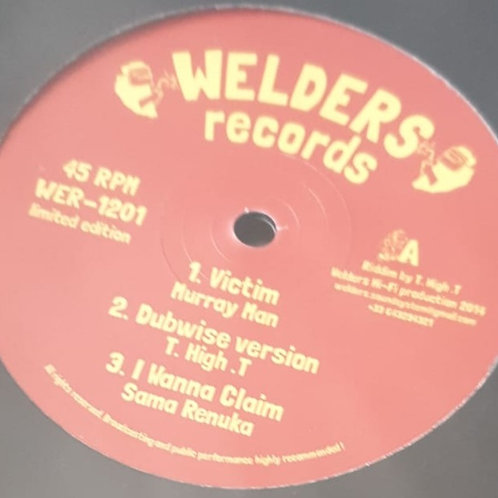 """VICTIM MURRAY MAN / STAND UP KING GENERAL WELDERS RECORDS 12"""""""