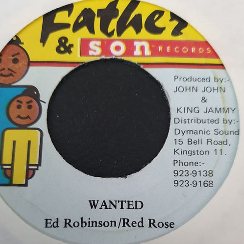 ED ROBINSON RED ROSE WANTED